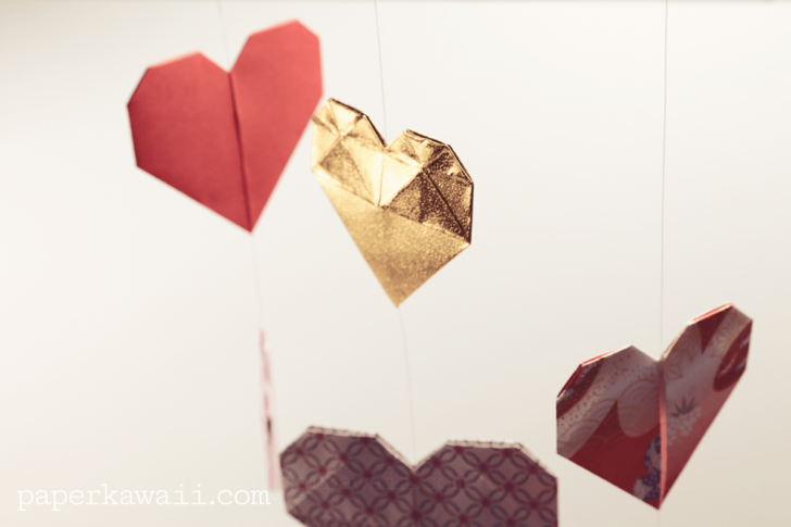 Origami Double Sided Heart Video Tutorial via @paper_kawaii