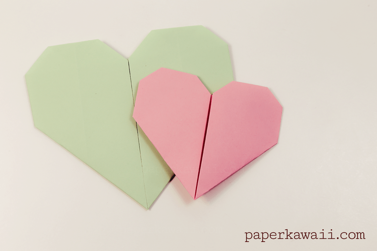 Easy Origami Heart Video Tutorial - Paper Kawaii - photo#46