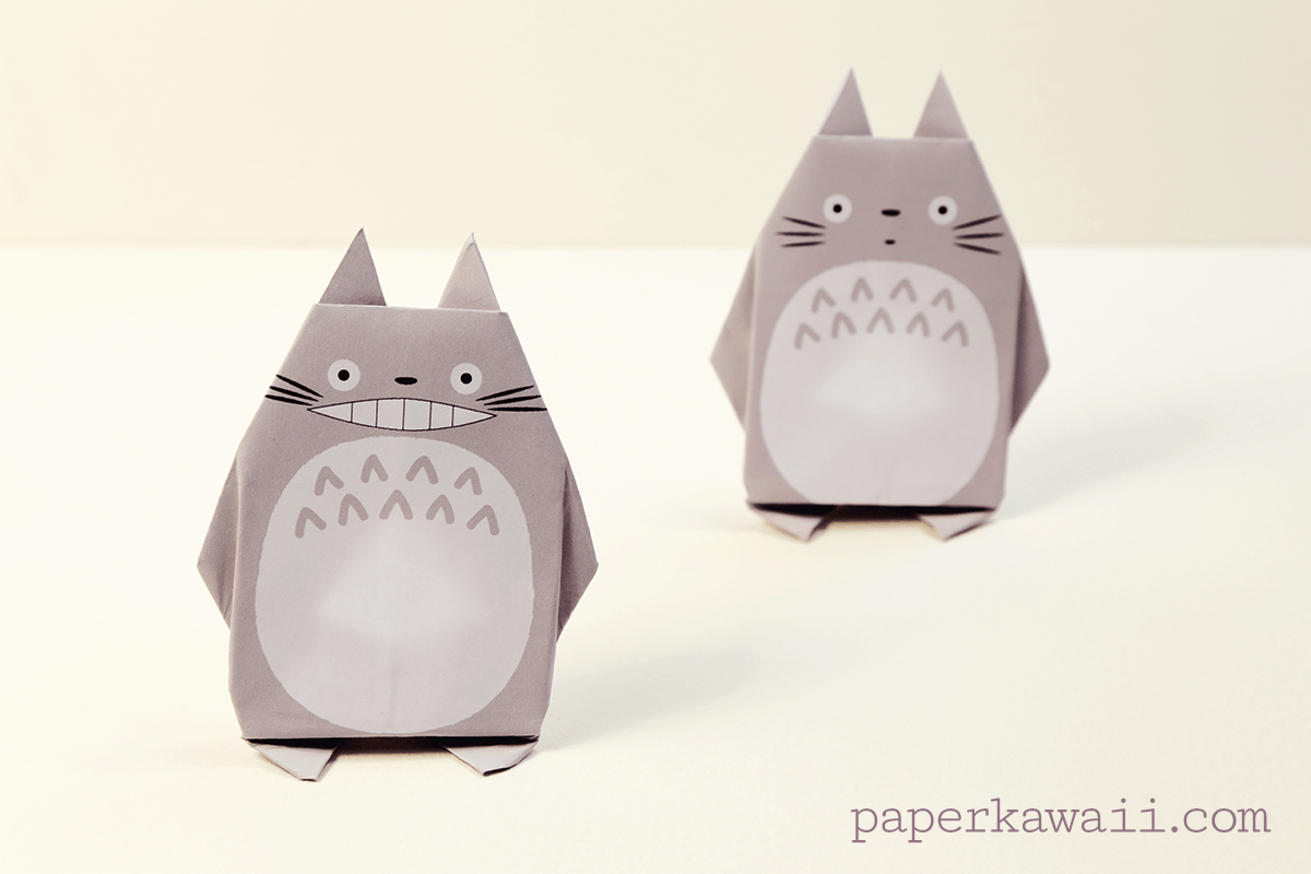 Origami Totoro Tutorial & Free Printable Paper - Paper Kawaii - photo#17