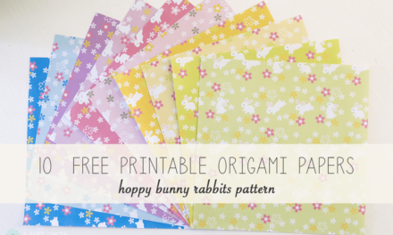 10 Free Printable Bunny Rabbit Origami Papers