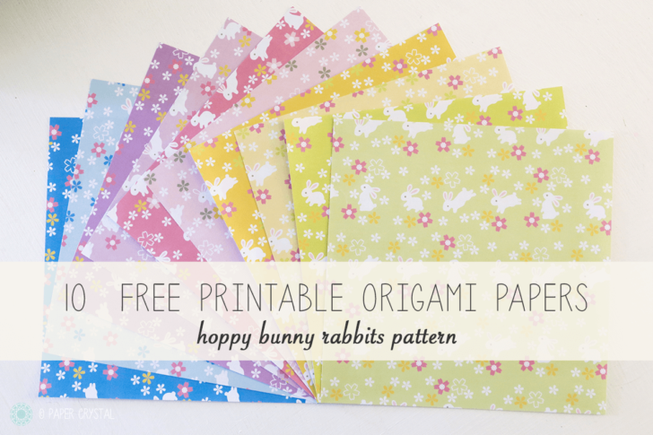 10 Free Printable Bunny Rabbit Origami Papers via @paper_kawaii