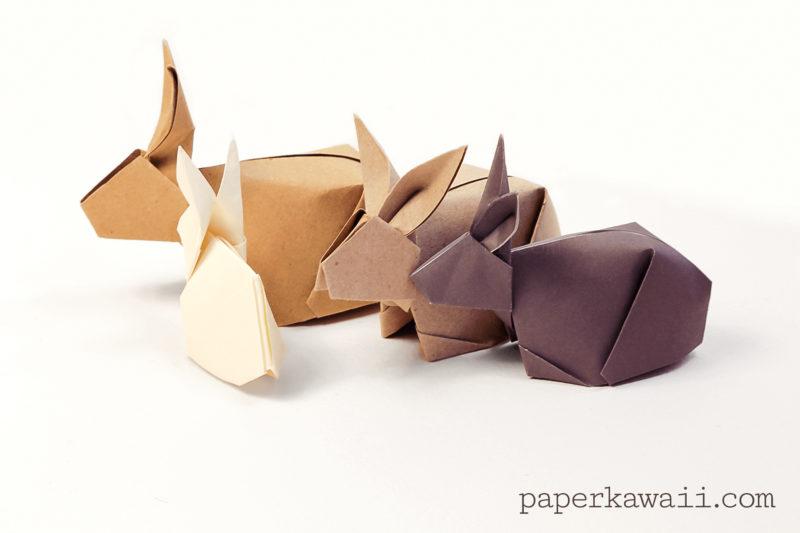 Origami Bunny Rabbit Tutorial via @paper_kawaii