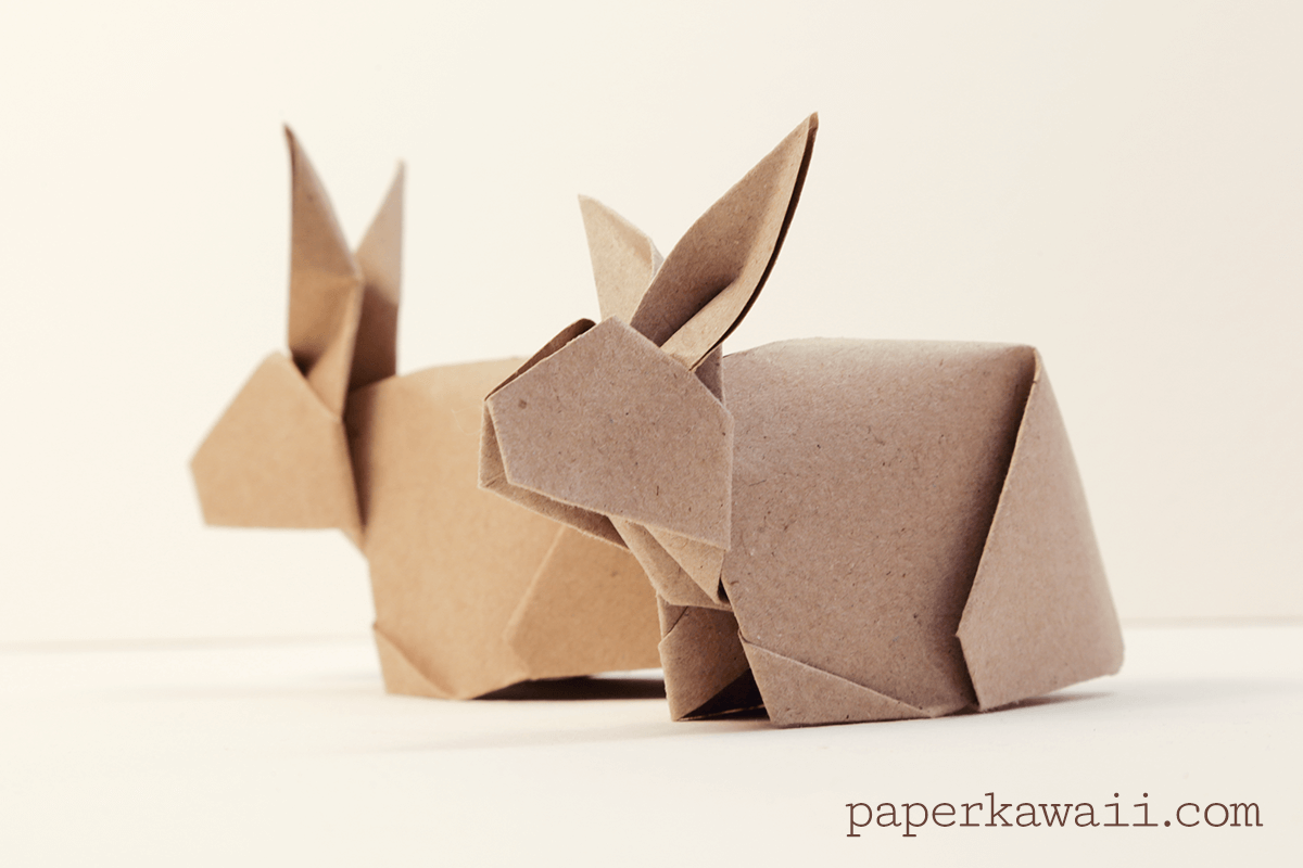 origami bunny rabbit tutorial paper kawaii