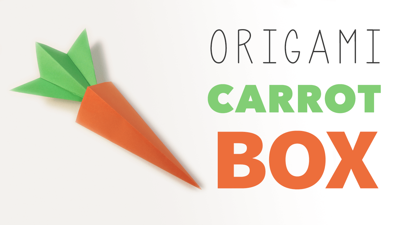 Origami Carrot Box Video Tutorial - Paper Kawaii