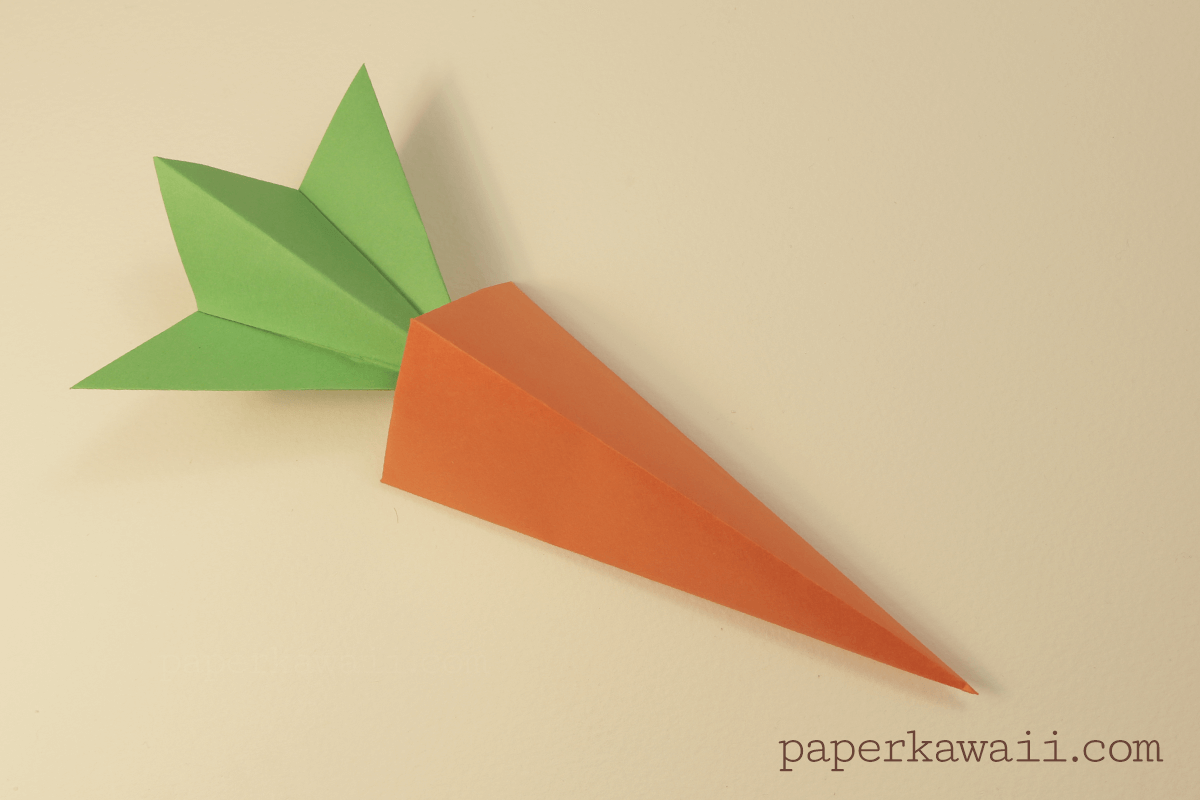 Origami carrot box video tutorial paper kawaii - Origami paper tutorial ...