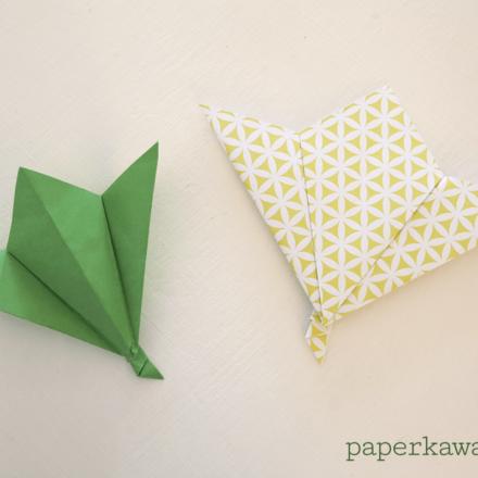 3D Origami Apple & Leaf Tutorial via @paper_kawaii