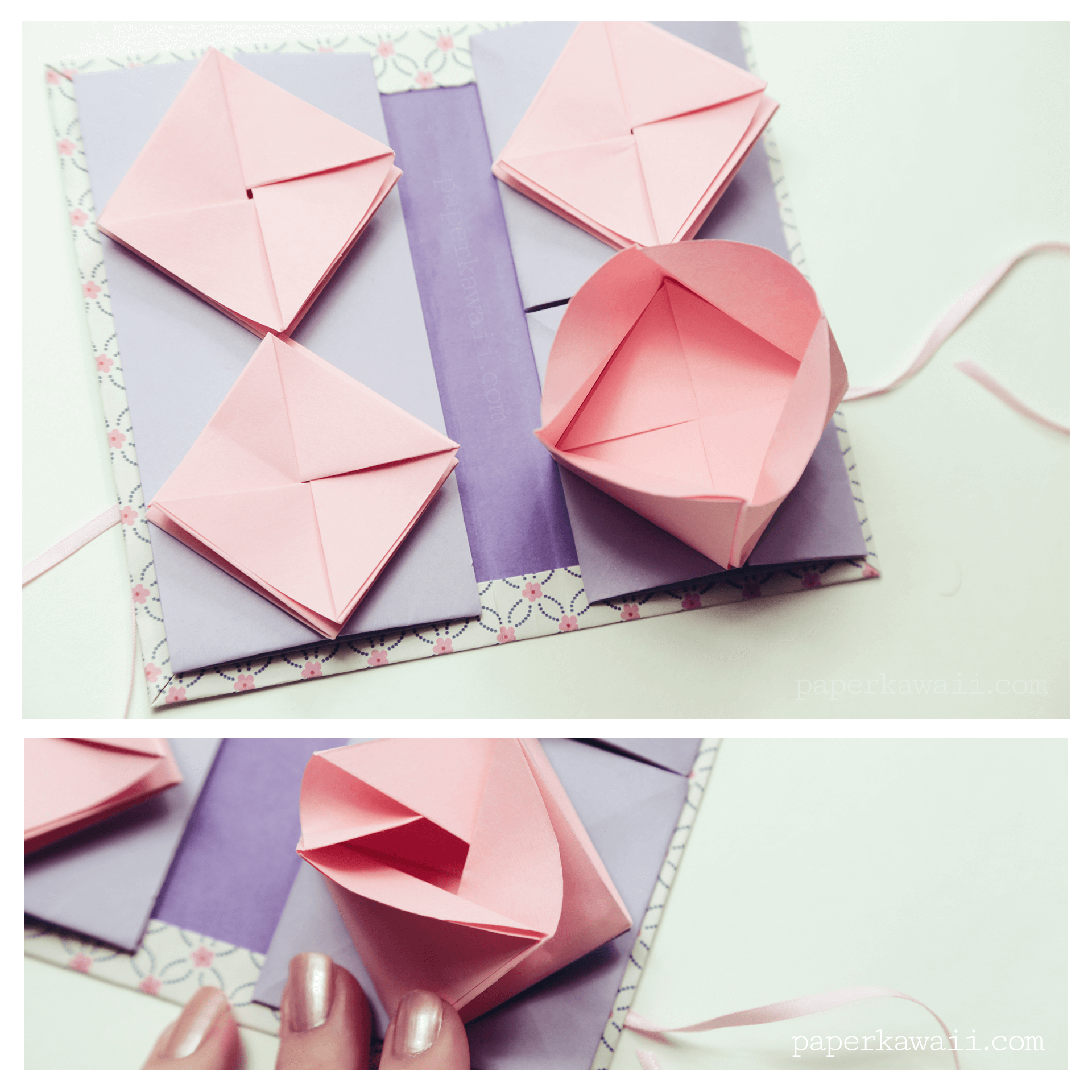 Paper Book Cover Tutorial : Origami chinese thread book video tutorial paper kawaii