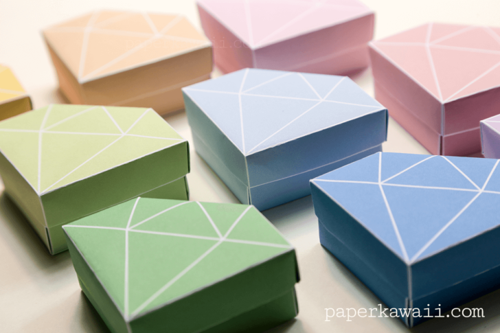 how to make an origami box with printer paper