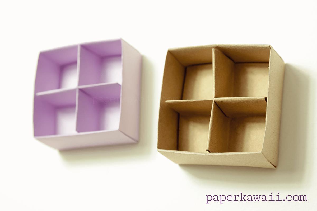 Origami Masu Box Divider Video Tutorial via @paper_kawaii