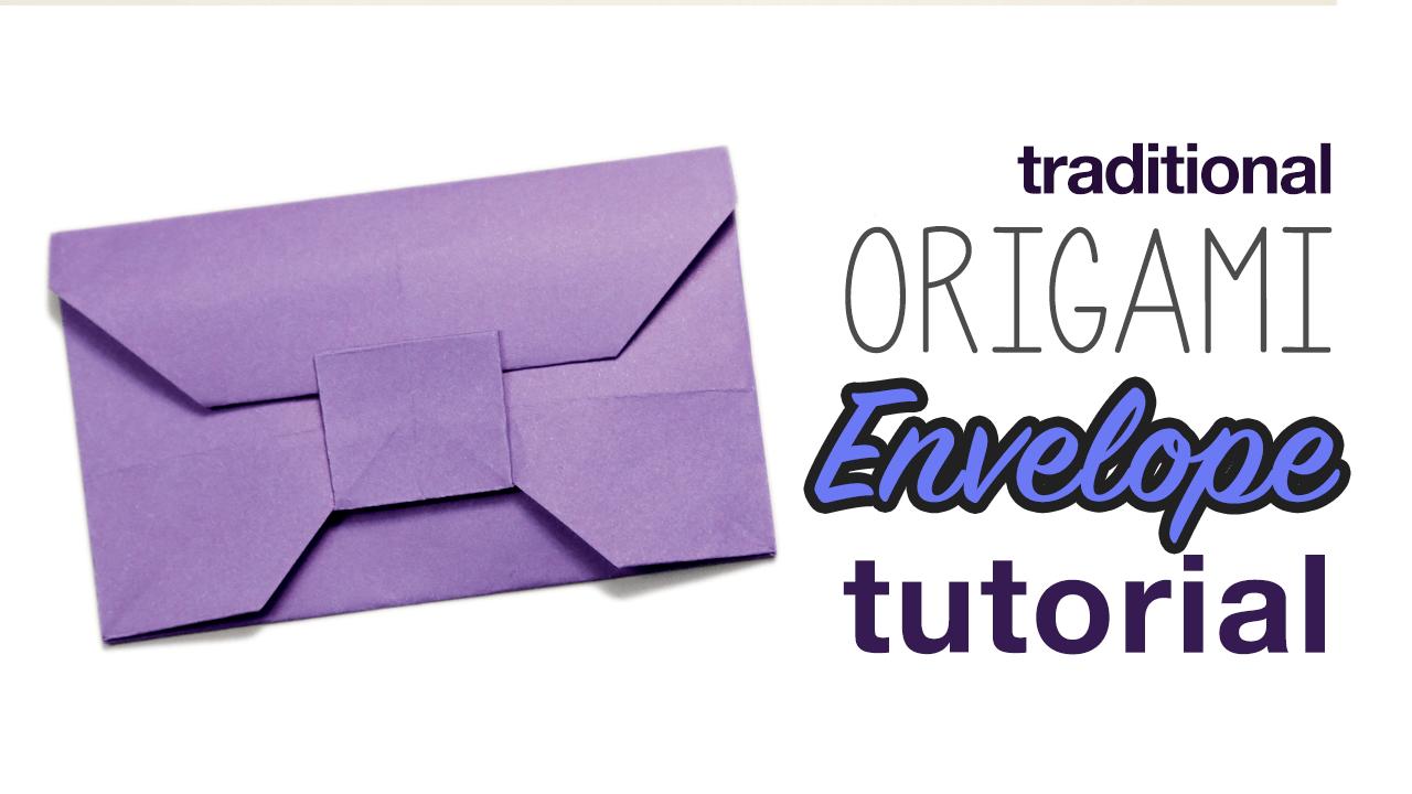 Traditional Origami Envelope Video Tutorial - Paper Kawaii - photo#11