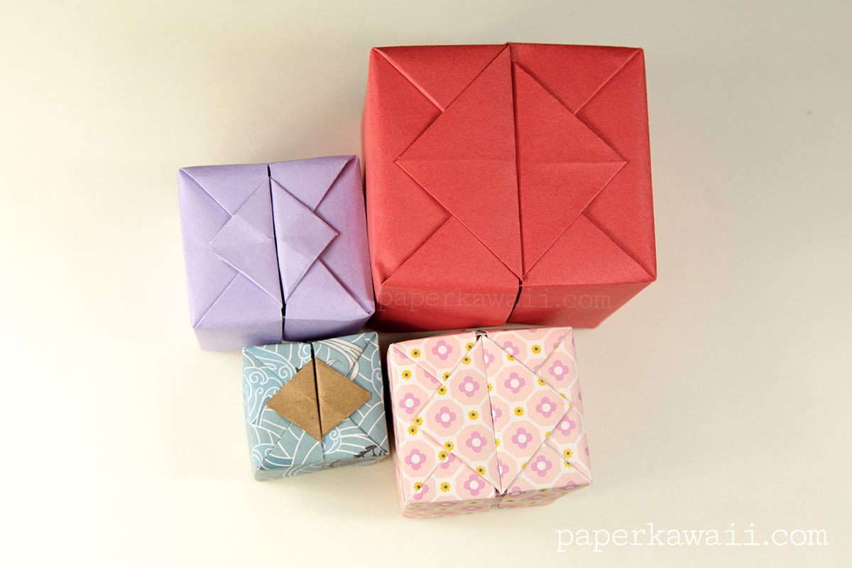 Origami hinged box video tutorial paper kawaii jeuxipadfo Gallery