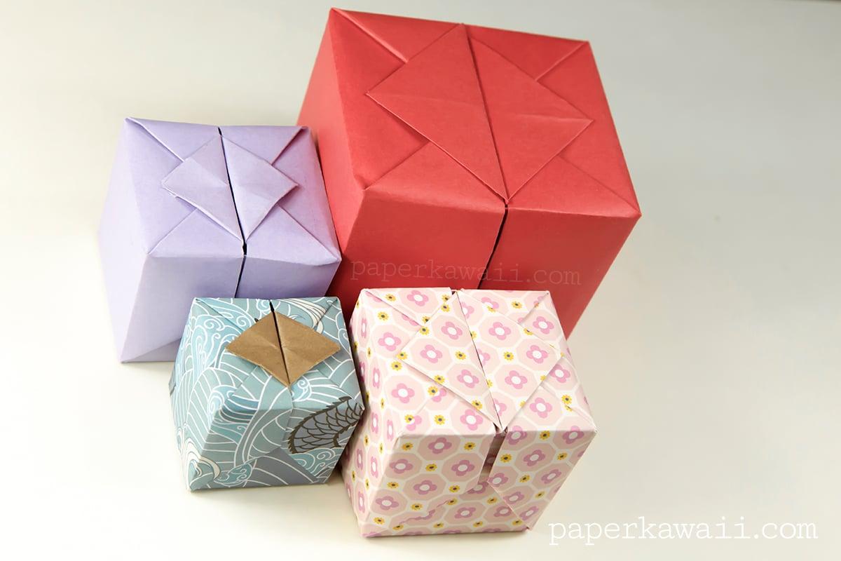 origami hinged box video tutorial paper kawaii