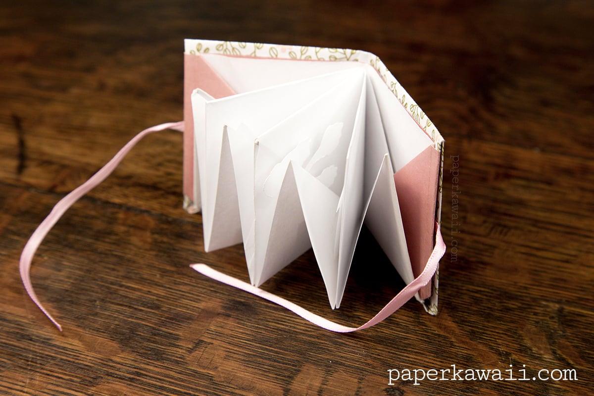 Paper Book Cover Tutorial : Origami popup book video tutorial paper kawaii