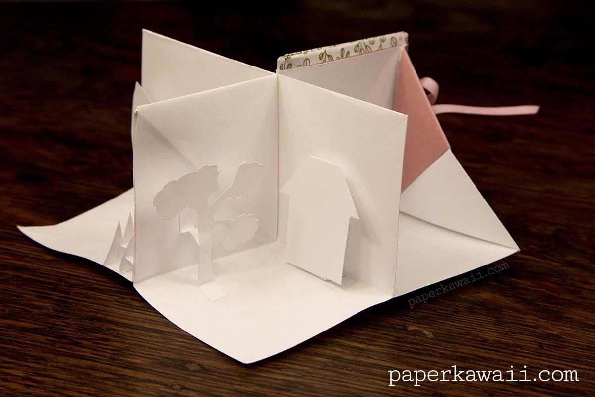 origami popup book video tutorial paper kawaii