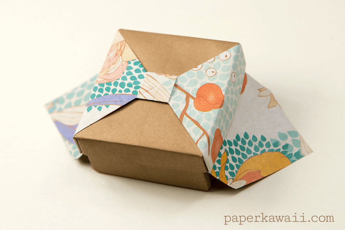Origami Box with Bow - Tutorial - Paper Kawaii - photo#18