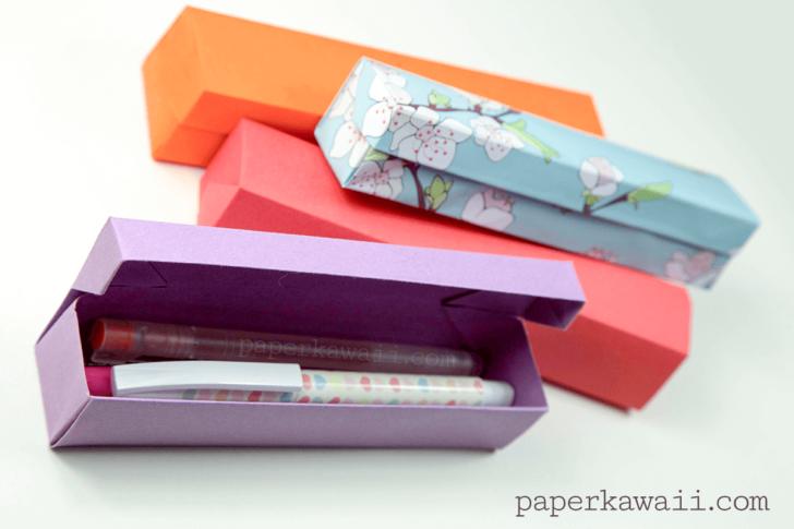 Как сделать из бумаги пенал