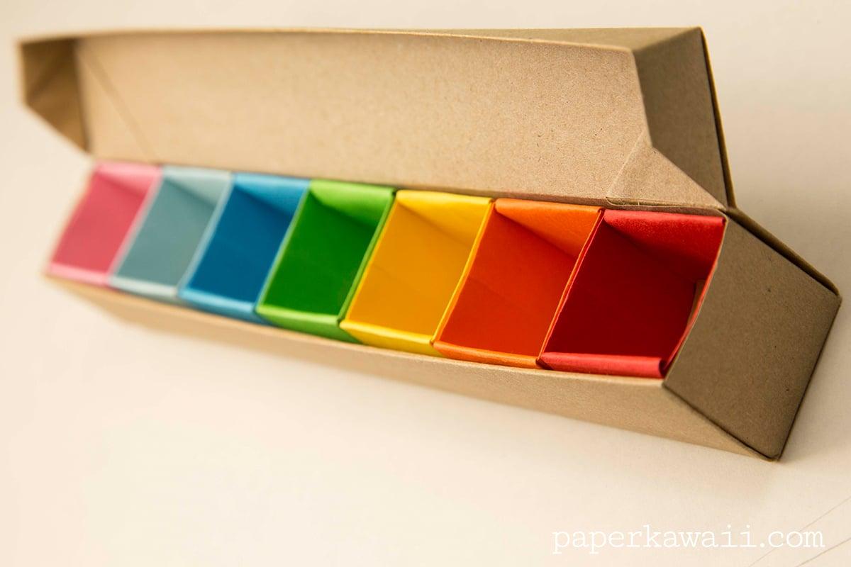 origami pill box organizer video tutorial paper kawaii