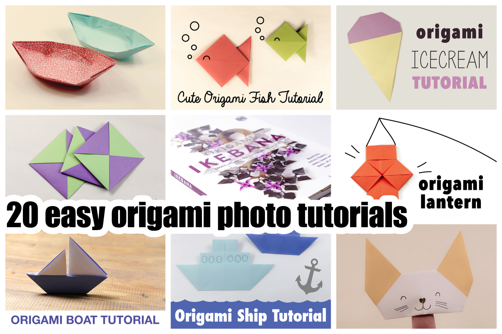 20 easy origami photo tutorials at aboutcom paper kawaii