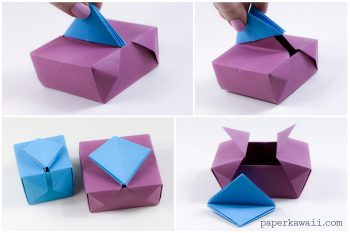 Origami Gatefold Box Instructions #origami #gatefold #box #crafts #diy