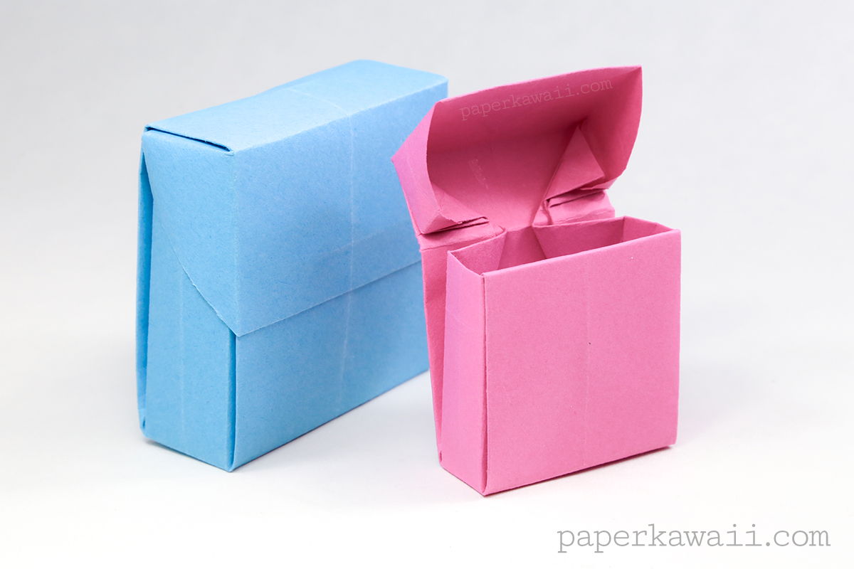 origami flip top box instructions paper kawaii