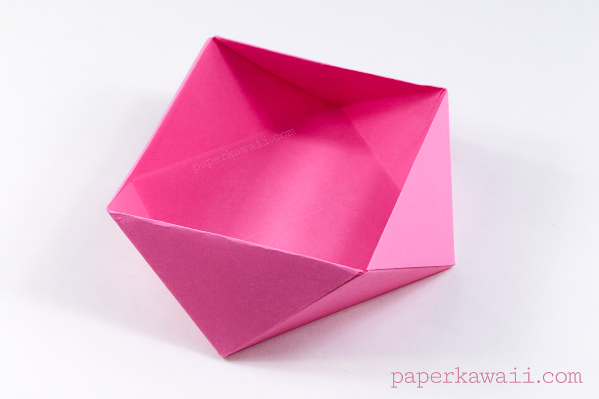 Traditional origami square bowl box instructions jeuxipadfo Image collections