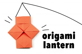 20 easy origami photo tutorials at paper kawaii for How to make paper lanterns easy
