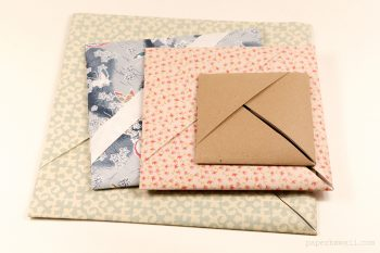 Origami Paper Storage Pocket Instructions #origami #box #origamipaper #craft #diy