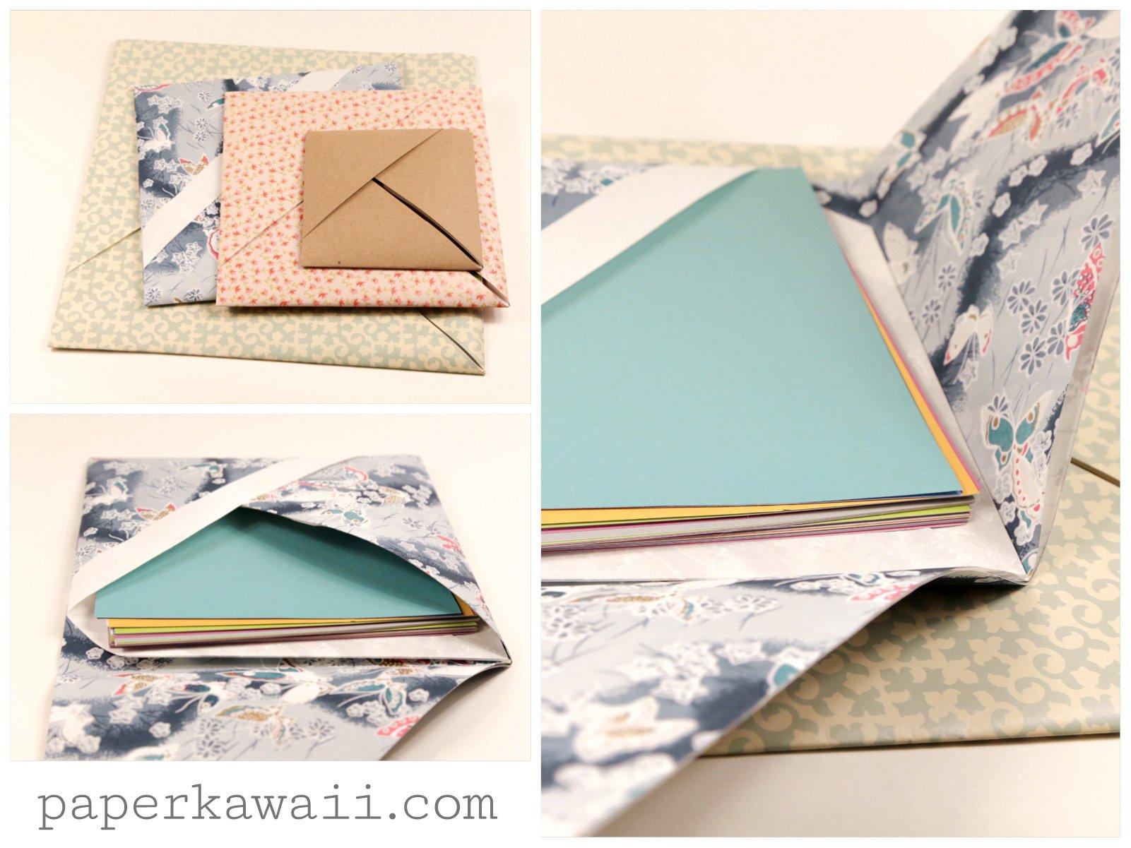 Origami Paper Storage Pocket Instructions via @paper_kawaii