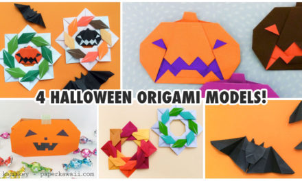 4 Cute Halloween Origami Models!