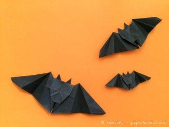 4 Cute Halloween Origami Models! via @paper_kawaii