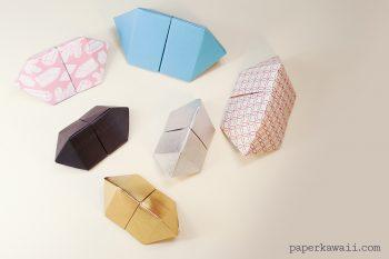 Origami Bipyramid Gem Box Instructions via @paper_kawaii