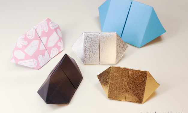 Origami Bipyramid Gem Box Instructions