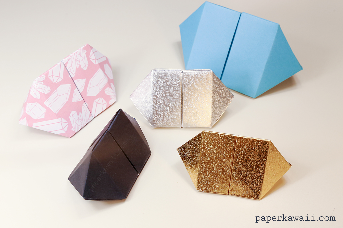 Hexagonal Origami Gift Box Instructions Best Images About Tomoko Fuse Hexagon Bipyramid Gem Paper Kawaii View Large