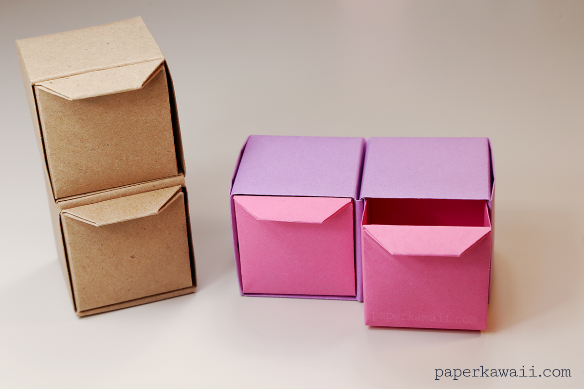 Origami Pull Out Drawers Instructions Paper Kawaii
