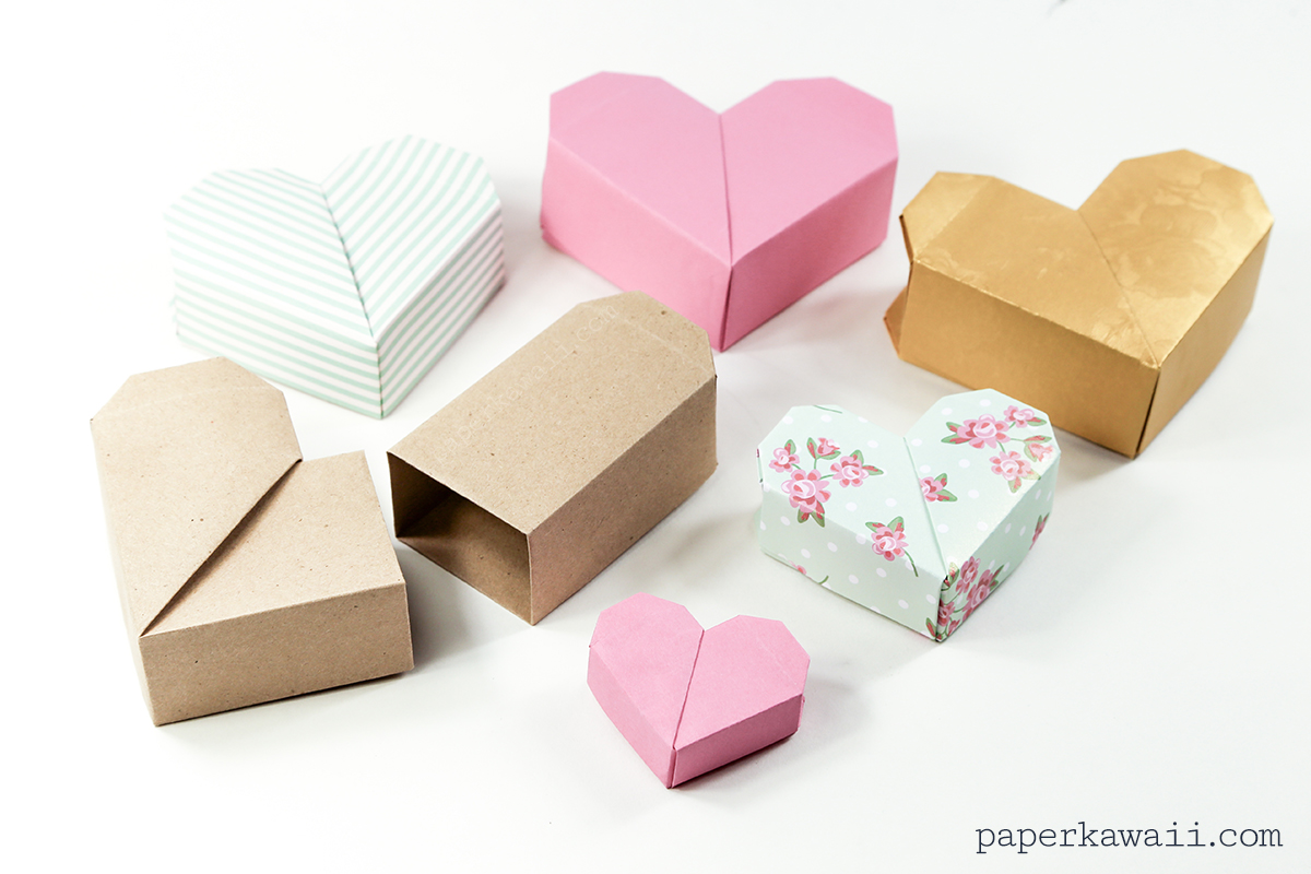 Origami Heart Box Video Instructions - Paper Kawaii - photo#8