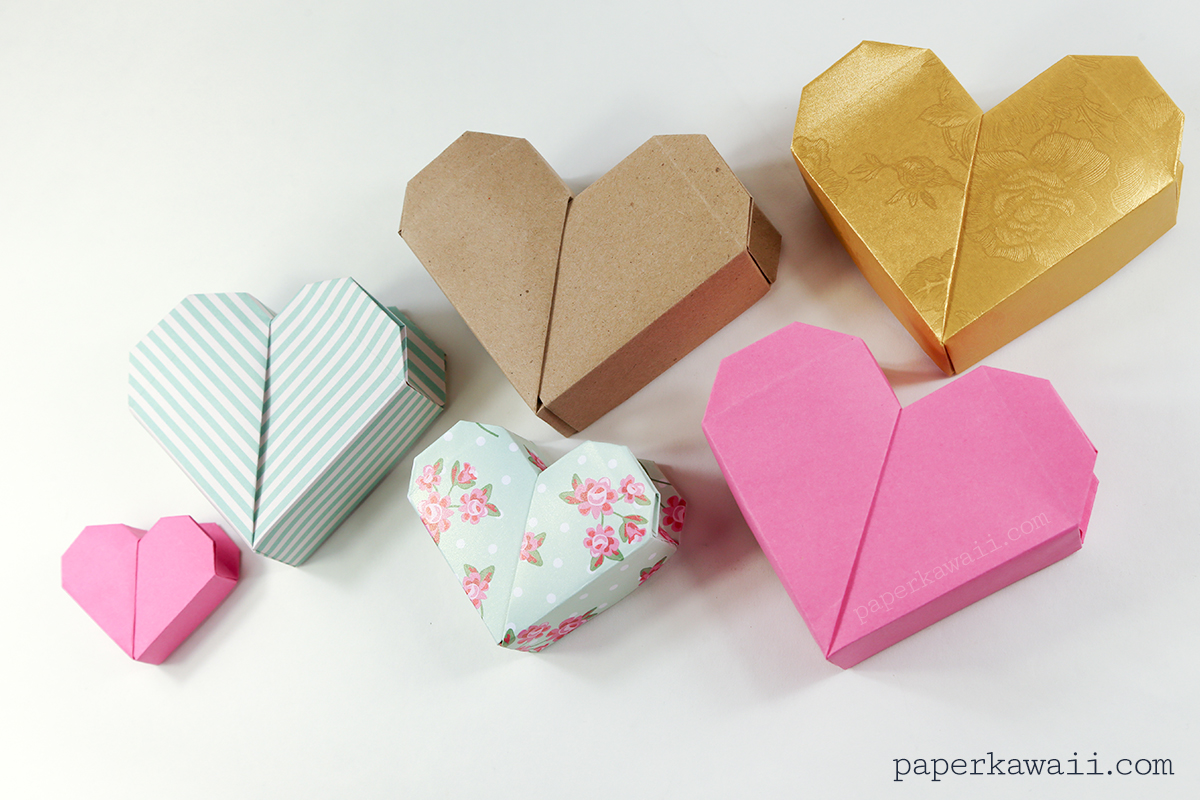 Origami Heart Box Video Instructions - Paper Kawaii - photo#7