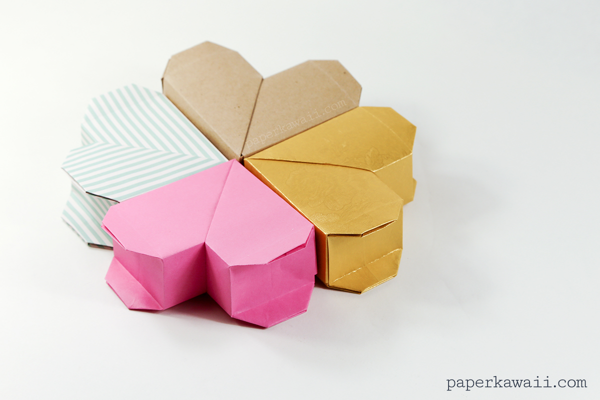 Origami Heart Box Video Instructions - Paper Kawaii - photo#3