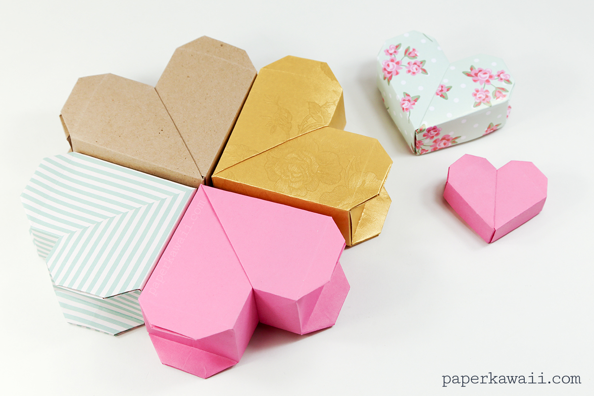 origami heart box video instructions paper kawaii
