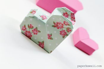 origami heart box instructions #diy #origami #cute #box #crafts