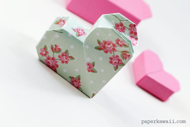 Origami Heart Box Video Instructions via @paper_kawaii