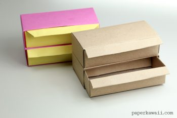 Origami Pull Out Drawers Instructions - Long Version via @paper_kawaii