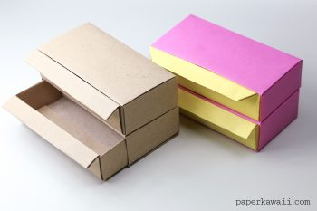 Origami Pull Out Drawers #origami #drawers #diy #crafts