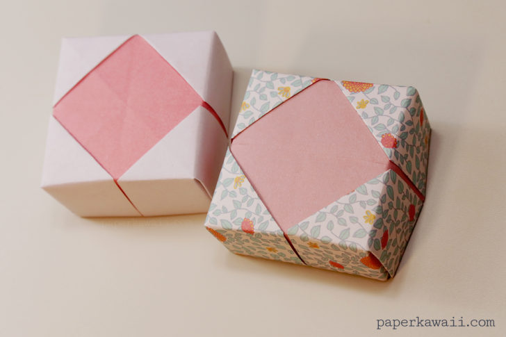 Origami Masu Box Lid Variations via @paper_kawaii