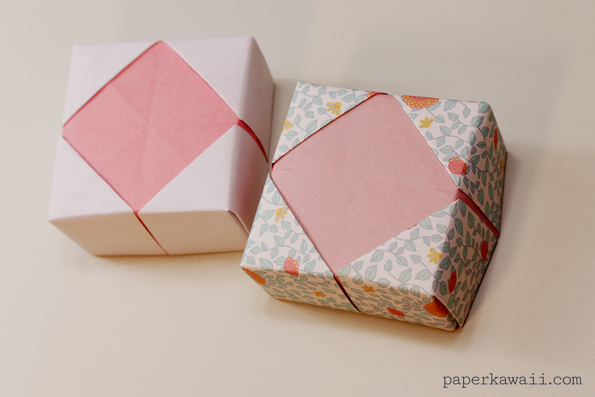 origami box with lid instructions printable