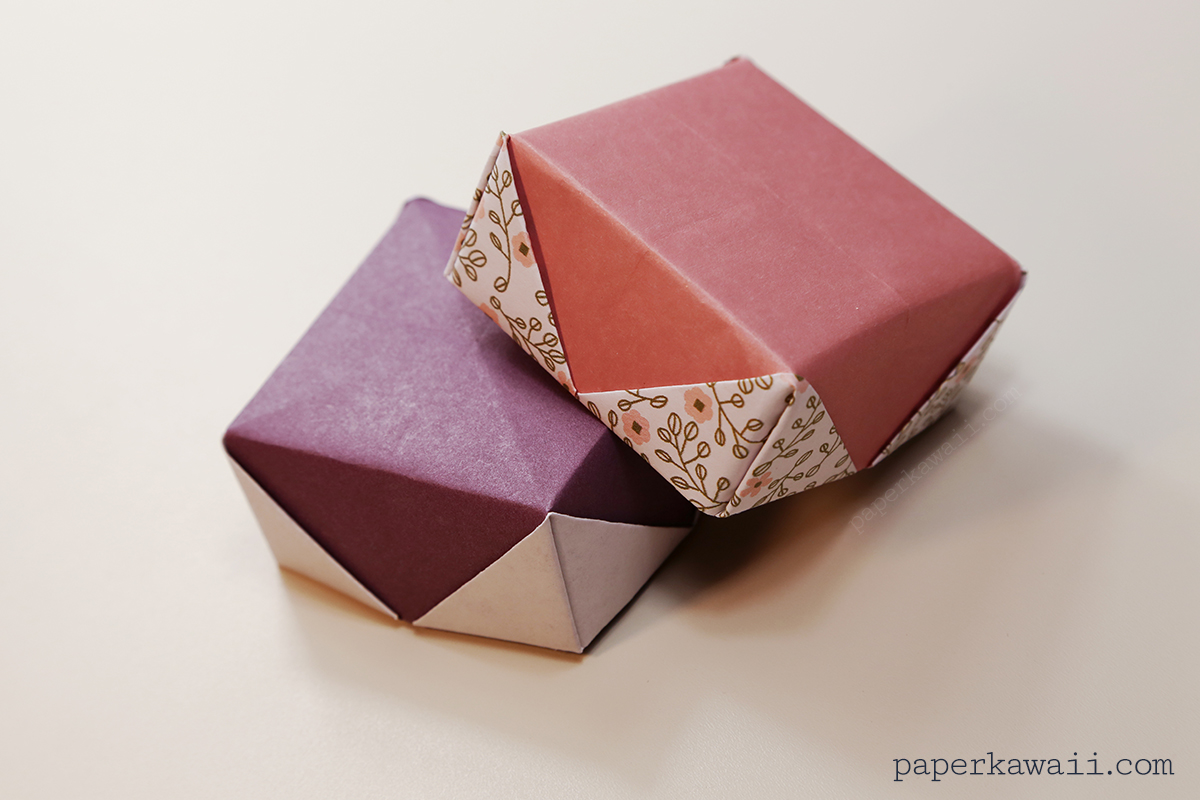 how to make an origami box with lid instructions