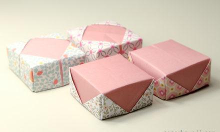 Origami Masu Box Lid Variations