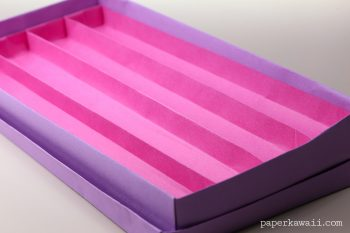 Origami Pencil Tray with 4 Sections Tutorial via @paper_kawaii