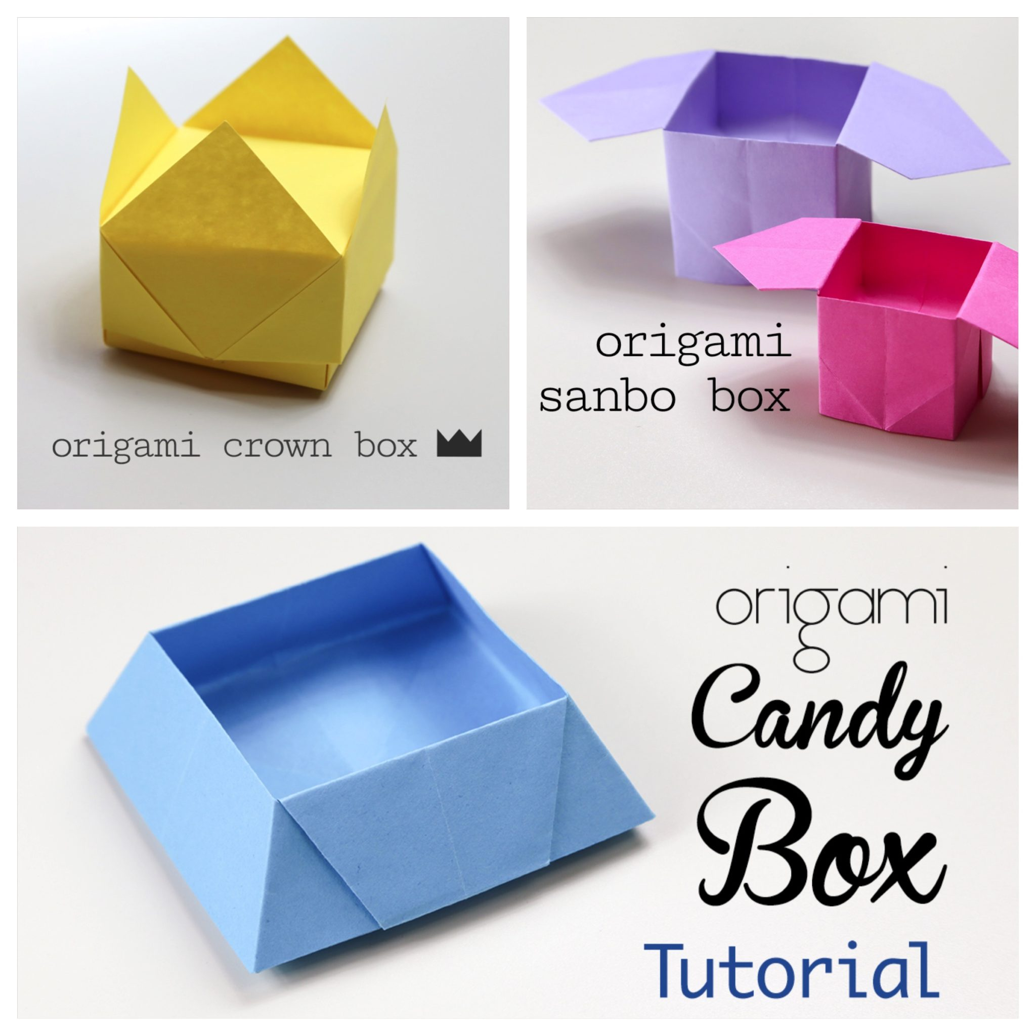 Easy Origami Boxes - Photo Instructions - Paper Kawaii
