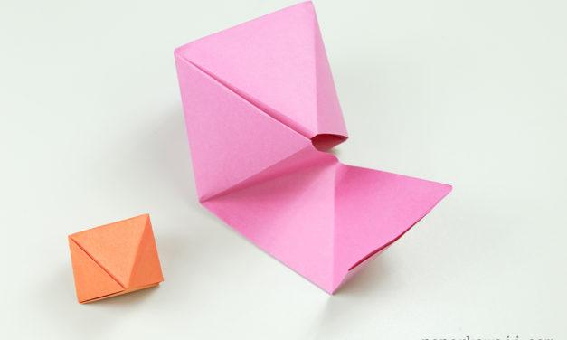 Origami Octahedron Box / Decoration Instructions ♦