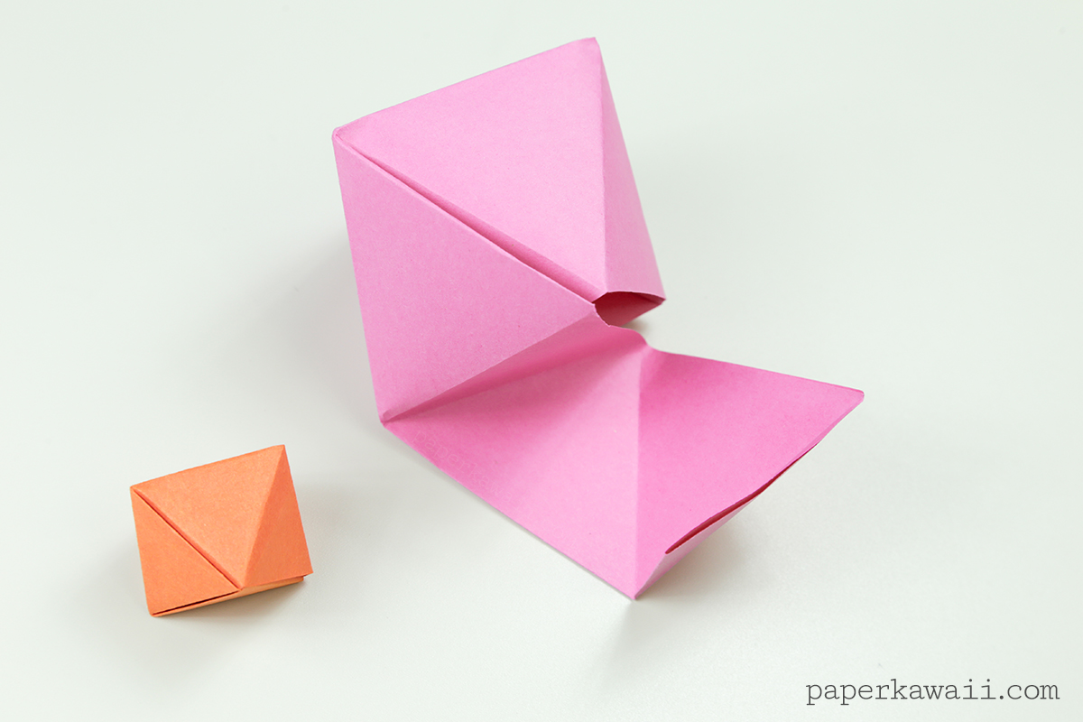 Origami octahedron box decoration instructions paper for Decoration origami